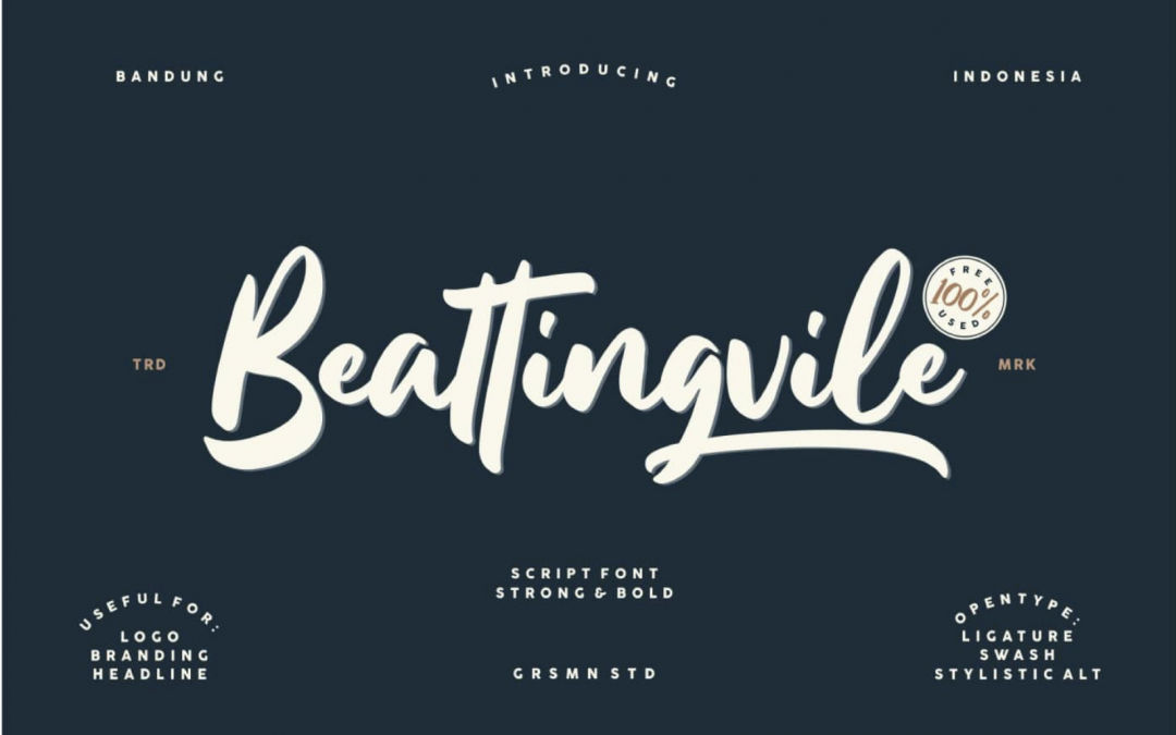 Typographie Beattingvile, à télécharger